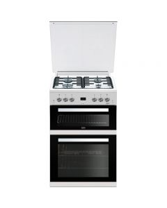 Beko EDG6L33W Cooker, Double Oven Gas