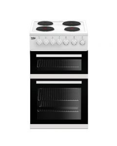 Beko EDP503W Cooker, Double Oven Electric