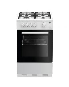 Beko ESG50W Cooker, Single Oven Gas
